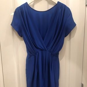 AMANDA UPRICHARD Blue Silk Blend Reversible Dress